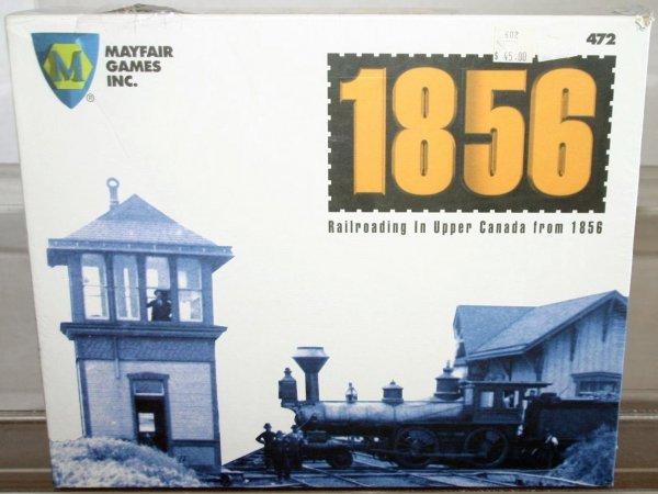 10: 1856 RAILROAD BOARD GAME.  STOCK# :  472  BOX:  YES