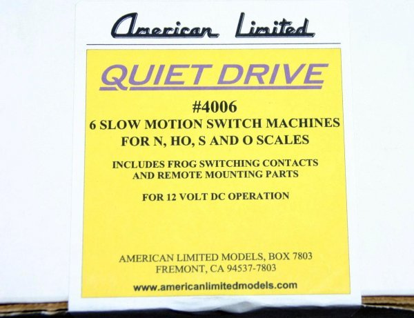 12: AMERICAN LIMITED 4006 6 QUIET DRIVE SLOW MOTION SWI