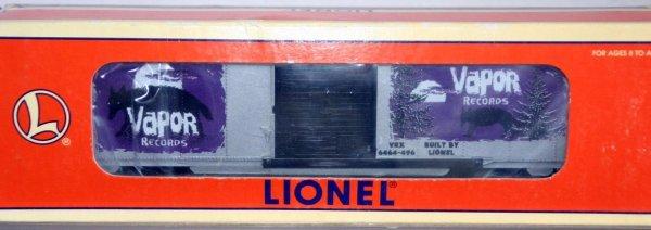 15: LIONEL 29218 VAPOR RECORDS 6464-496 BOXCAR.  STOCK#