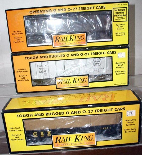 20: MTH RAIL KING 30-7211 CSX GONDOLA W/ CRATES, 30-742