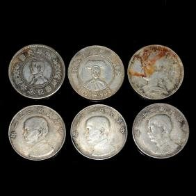 Six Silver Coins of Guangxu and Republic of China