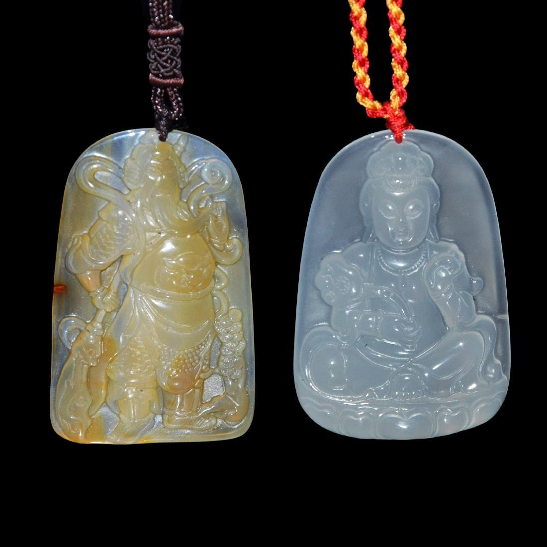 An Agate Pendant of General Guan,  An Agate Pendant of
