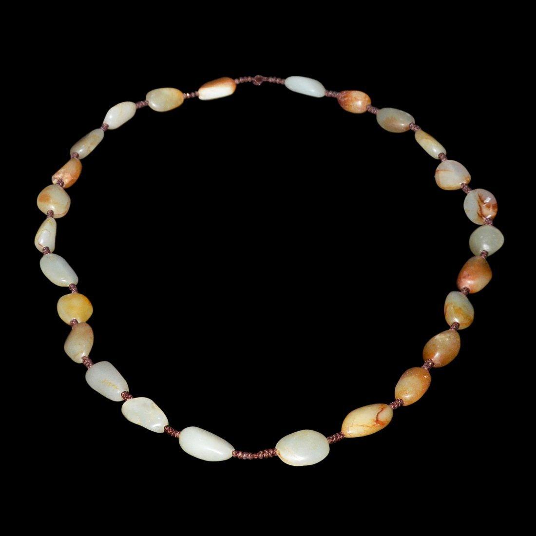 Hetian Jade Bead Necklace