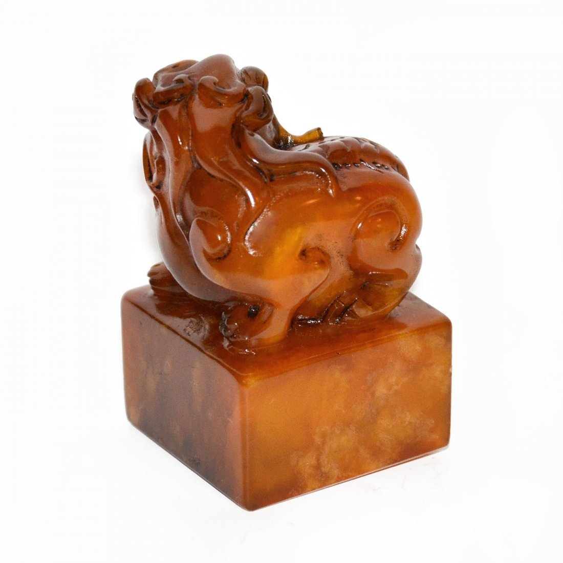 Shoushan Stone Seal with Lion Knob - 4
