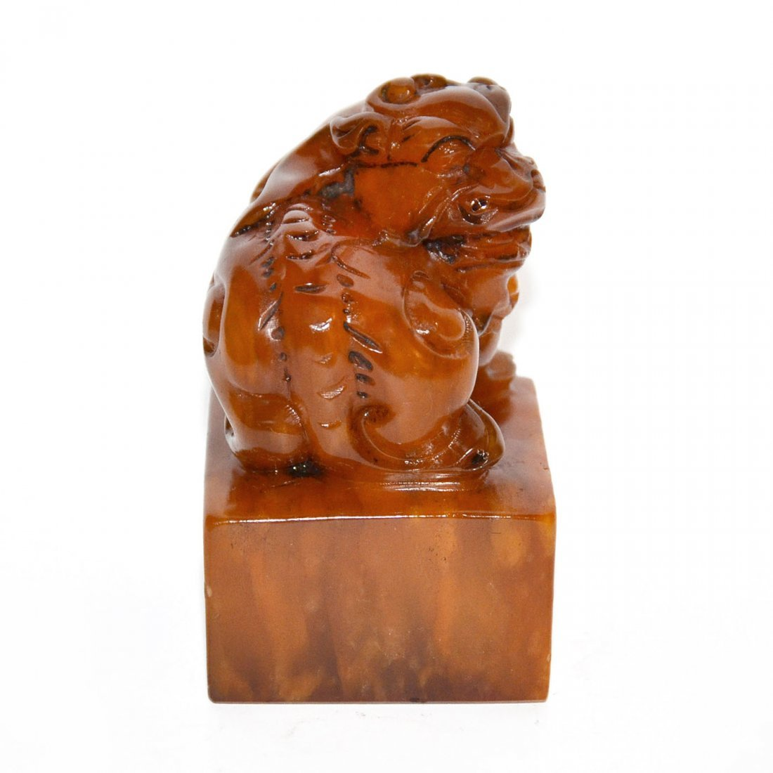 Shoushan Stone Seal with Lion Knob - 5