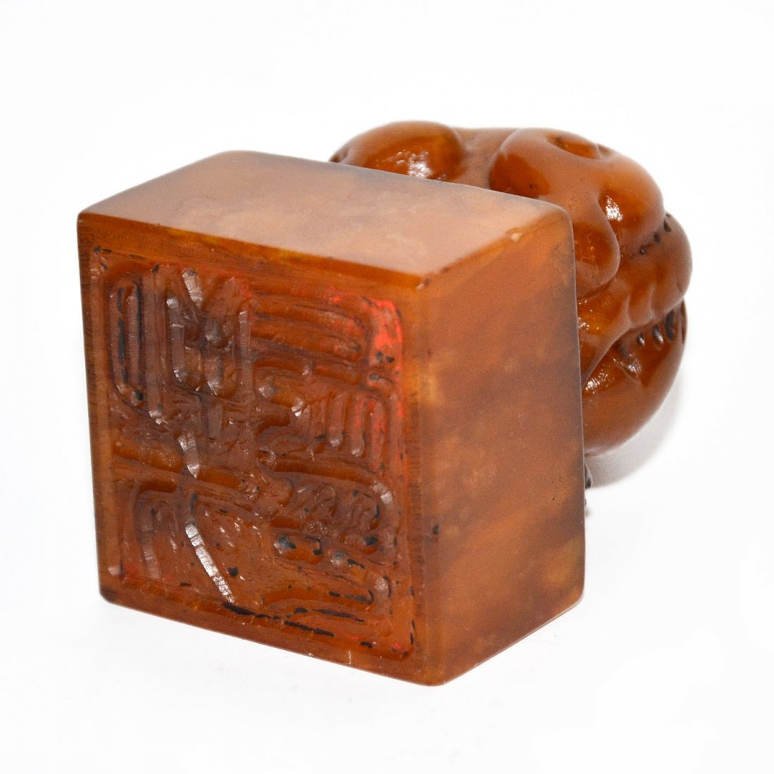 Shoushan Stone Seal with Lion Knob - 6