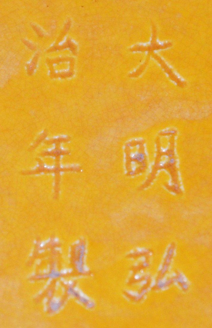 Ming, Yellow-Glazed Dish Interior and Exterior - 4