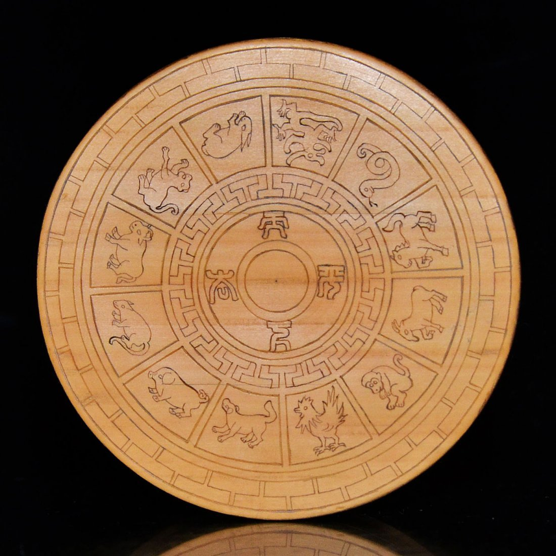 Bamboo Box with Twelve Zodiac Signs and Cover - 2