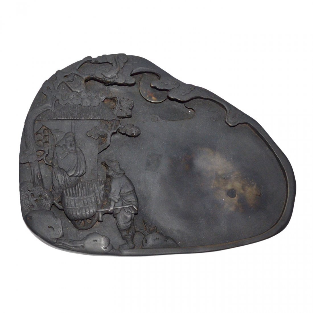 A Well Carved Duan Inkstone with Story Scene of