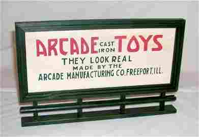 137: ARCADE WOOD PROMOTIONAL BILLBOARD