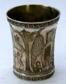 Rare Silver Polish Passover Kiddush Cup, 19th Ce