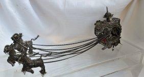 Islamic Yemenite Horse-drawn Carriage Silver Filigree