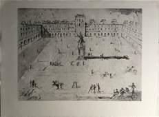 """Salvador Dali """"Grande Place des Vosges"""" signed in Plate"""