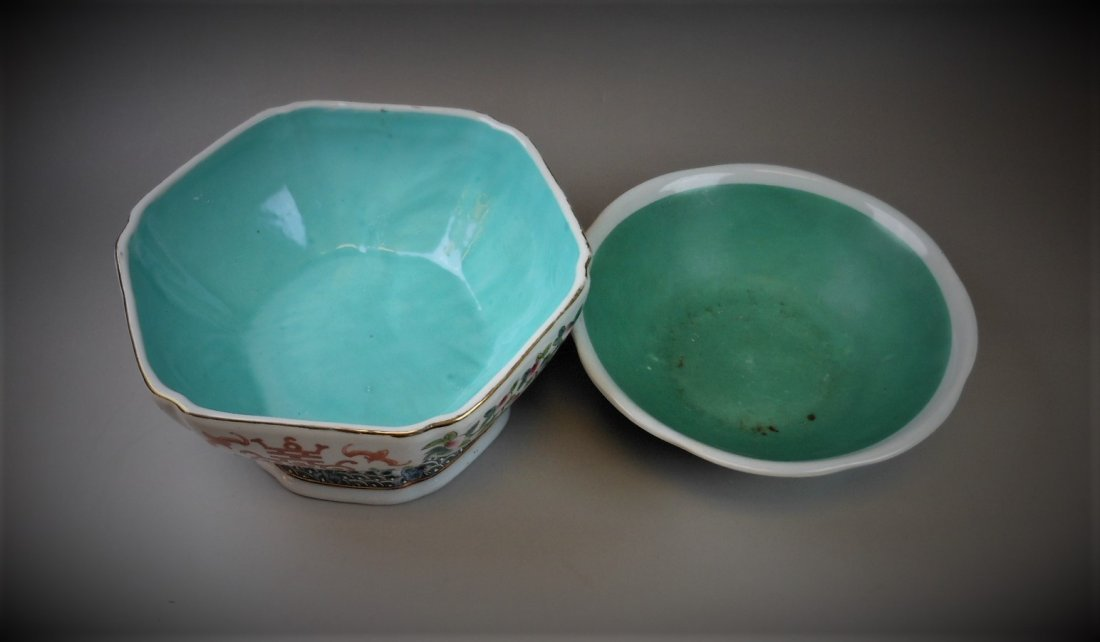 2 CHINESE FAMILLE ROSE PORCELAIN BOWLS - 2
