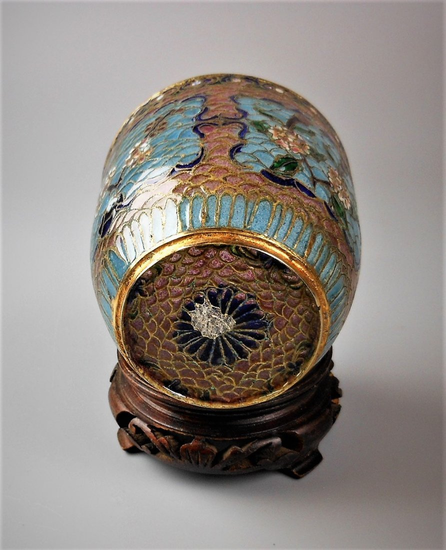 A Chinese cloisonné cup - 4