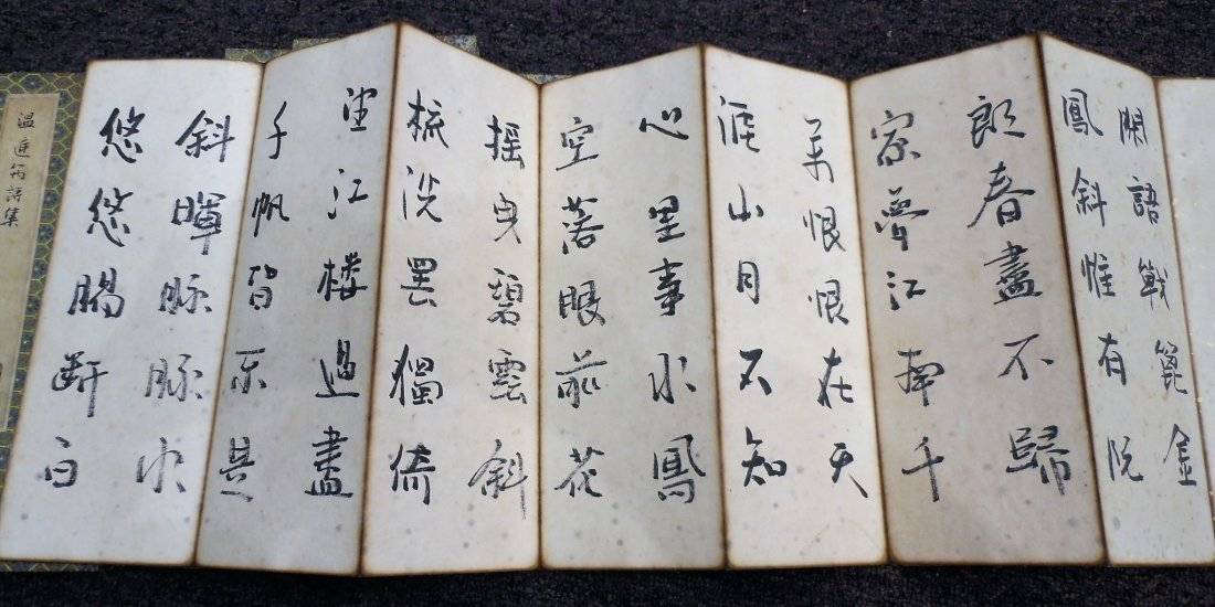 4 Chinese painted calligraphy books - 5
