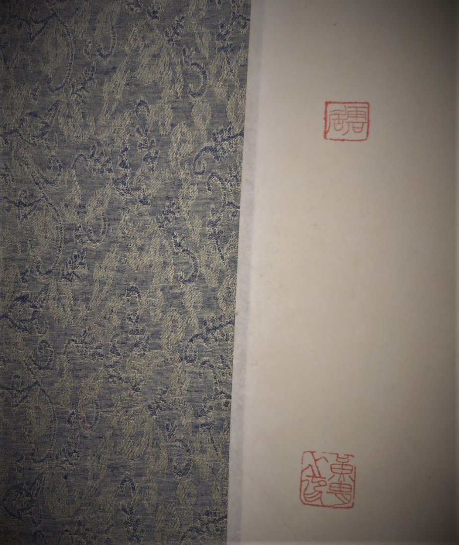 A Chinese color painting paper long scroll - 8
