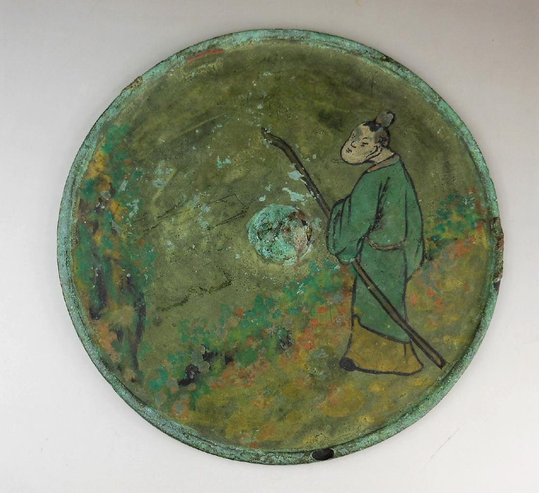 A Chinese Song dynasty bronze mirror