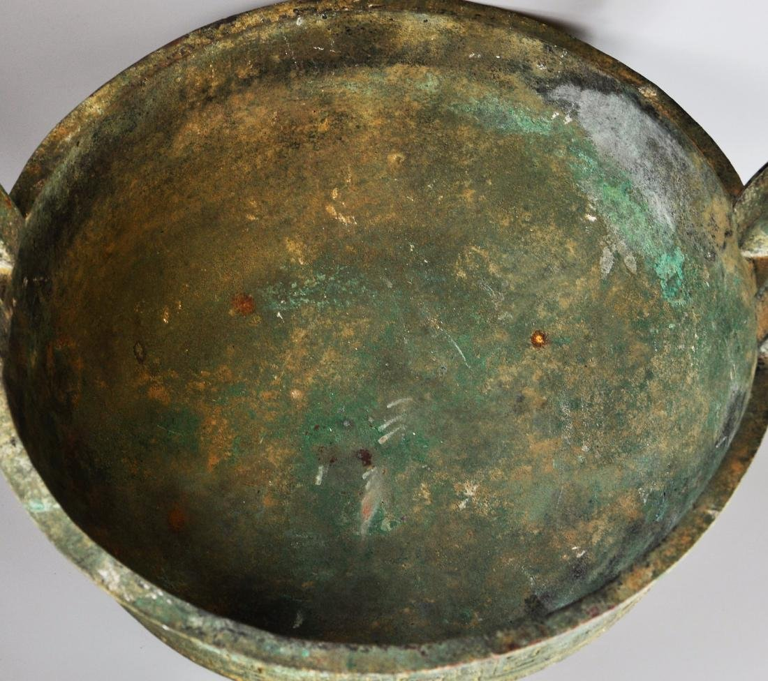 A large Chinese archaic bronze vessel, ding - 9