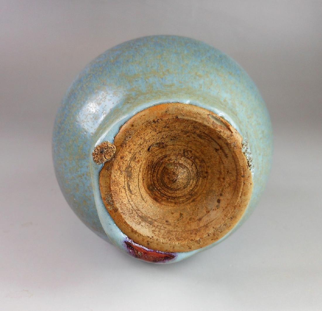 Chinese Yuan period Jun-yao celadon porcelain vase - 4