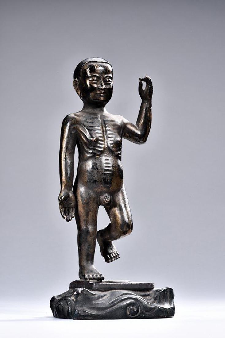 A Chinese Qing dynasty gilt bronze Buddha