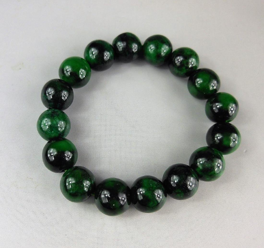 A Chinese jadeite bracelet