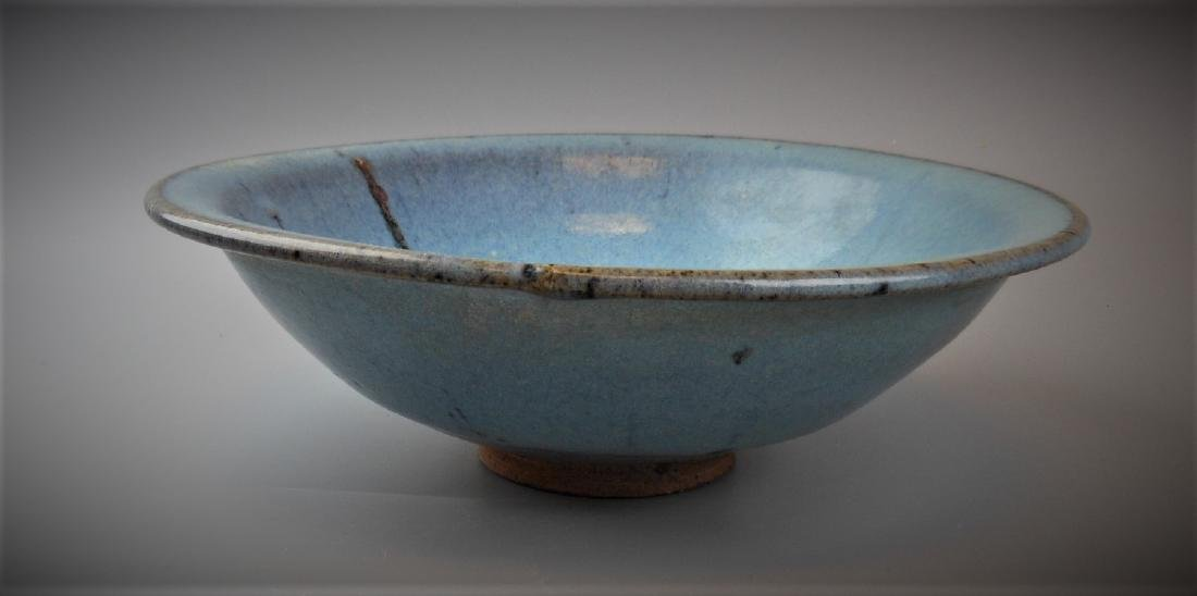 A Chinese Yuan dynasty Jun-yao porcelain bowl