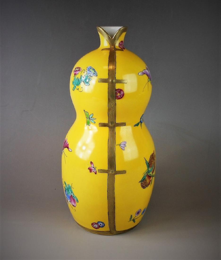 A Chinese Qing dynasty underglazed-yellow enamel