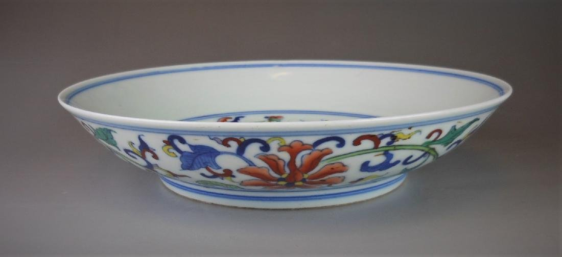 A Chinese Qing dynasty doucai porcelain plate