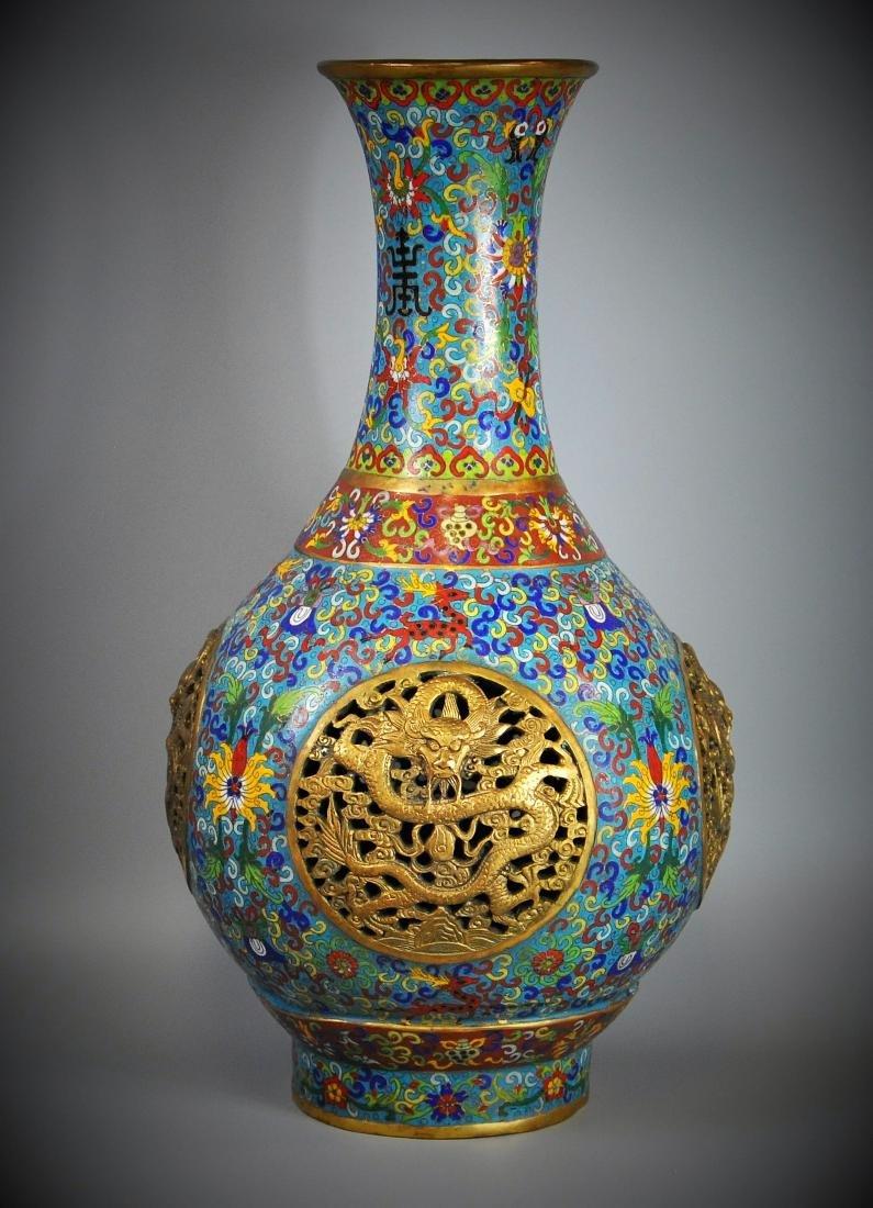A Chinese antique cloisonne vase