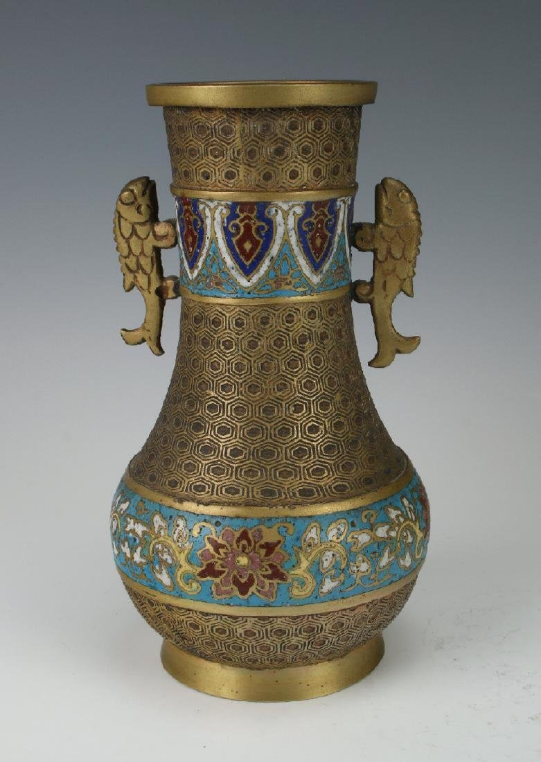A Chinese archaic cloisonne vase