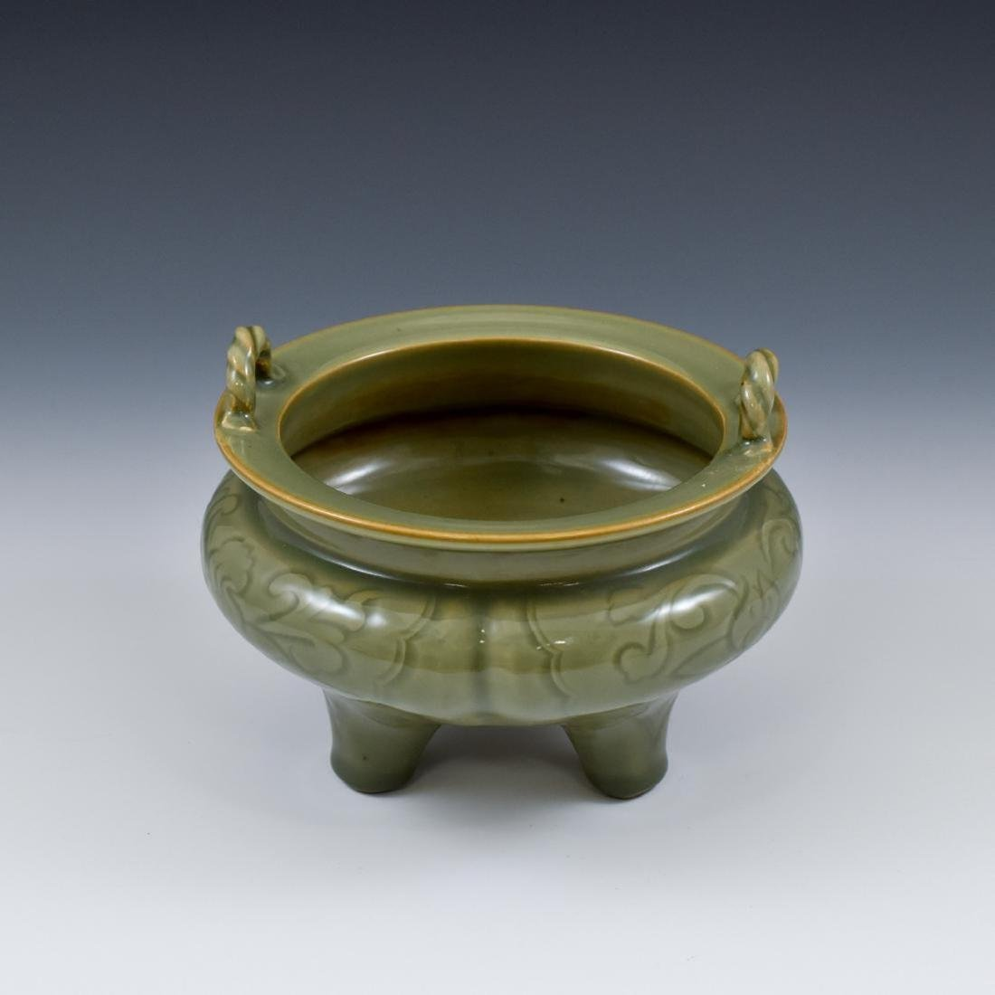 A Chinese Ming dynasty Longquan celadon censer
