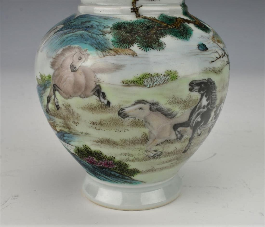 A Chinese Qing dynasty famille rose vase - 8