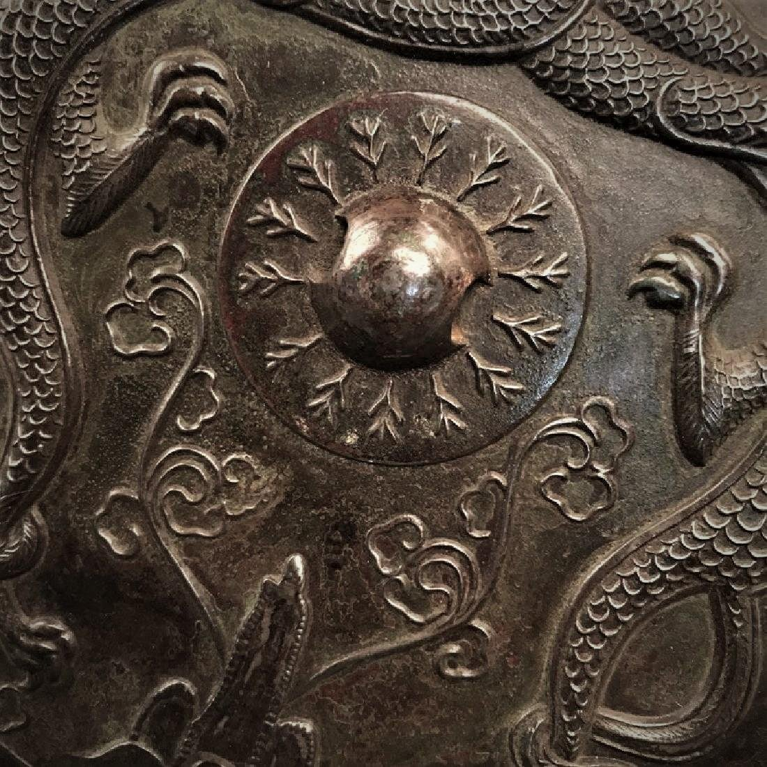 A Chinese archaic style bronze mirror - 3