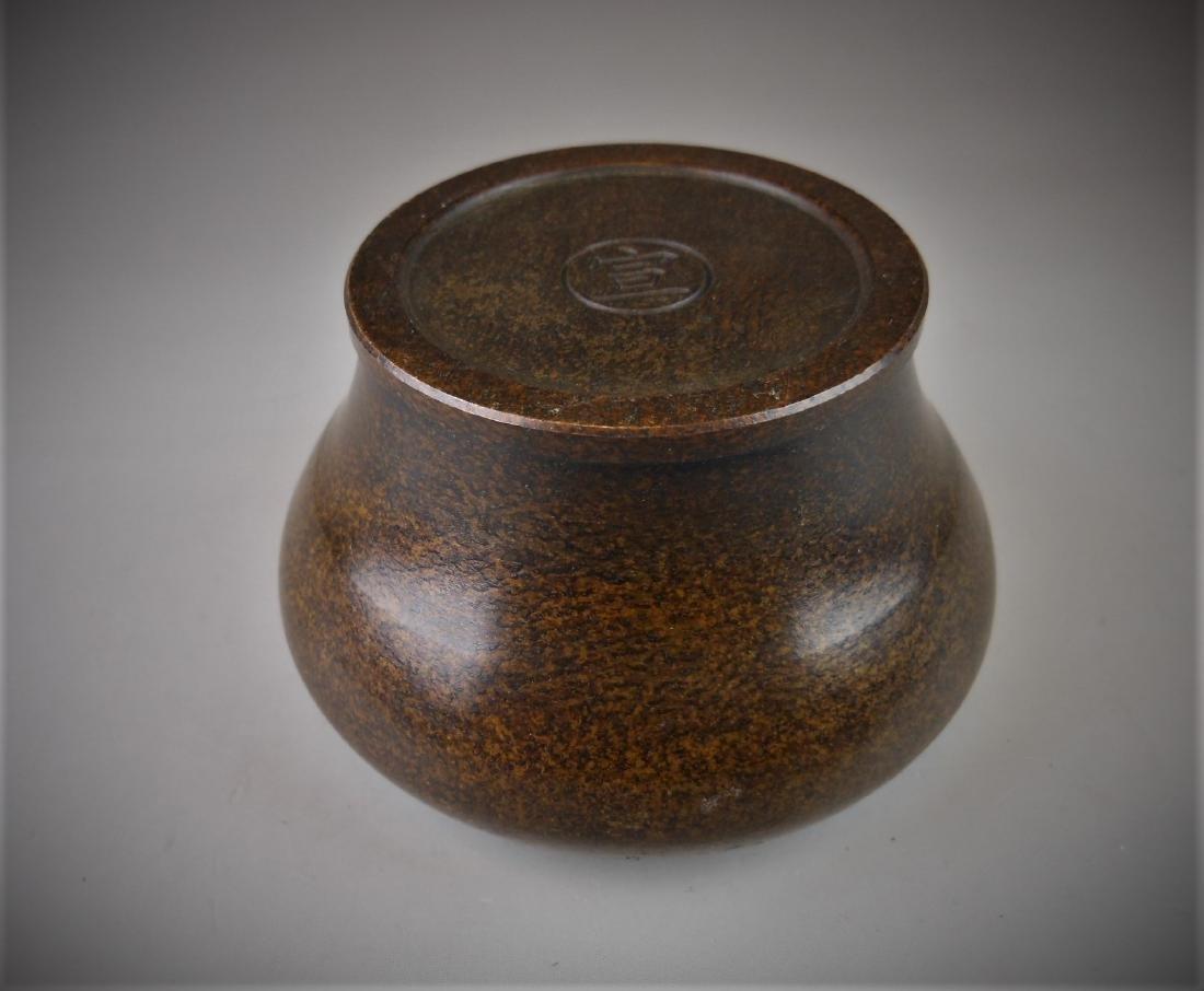 A Chinese bronze censer - 4