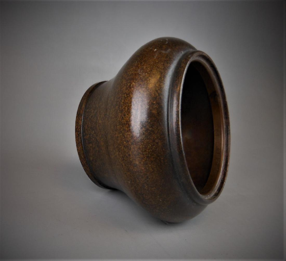 A Chinese bronze censer - 5