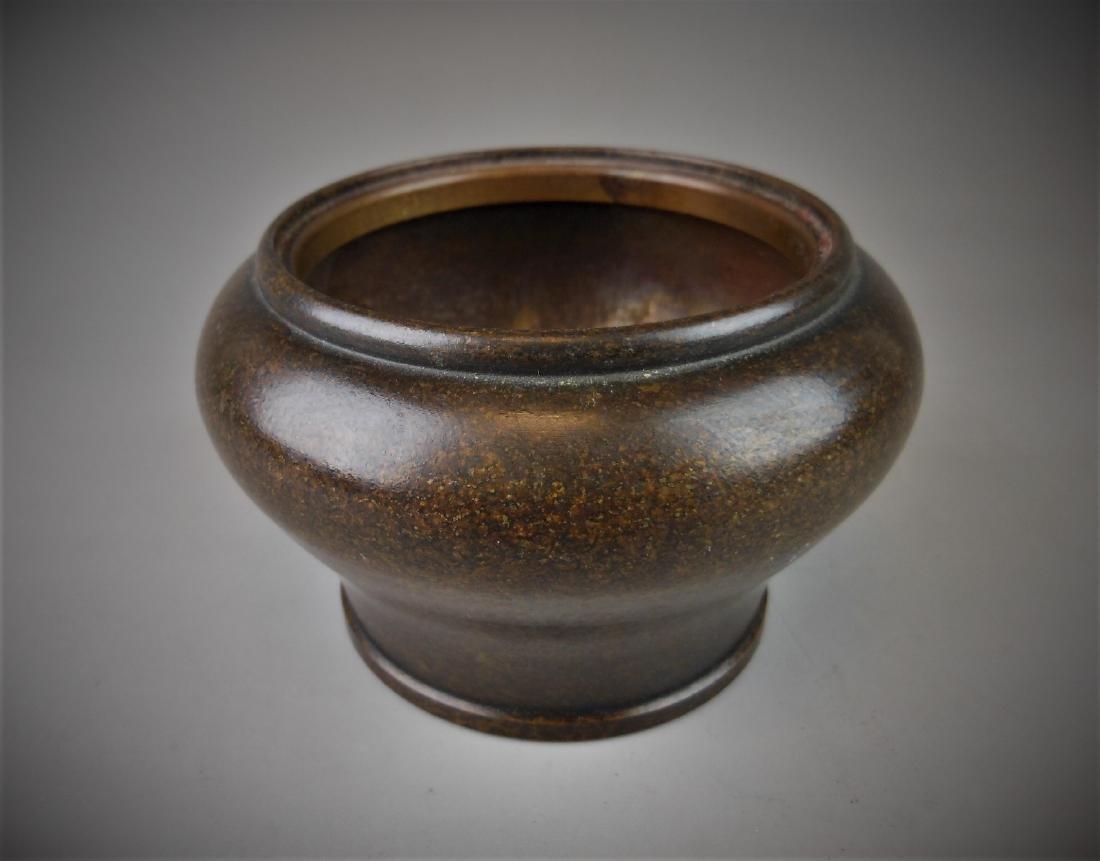 A Chinese bronze censer - 6