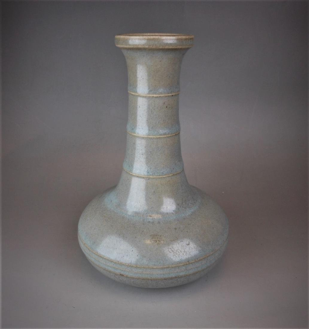 A Chinese Song style Ru-yao celadon porcelain vase