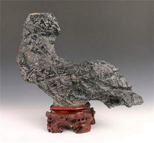 A Chinese natural Lingbi stone bird like