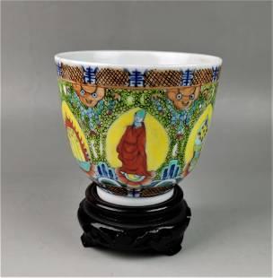 A Chinese Qing Guangxu period enamel porcelain