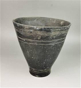 A Chinese bone carved cup