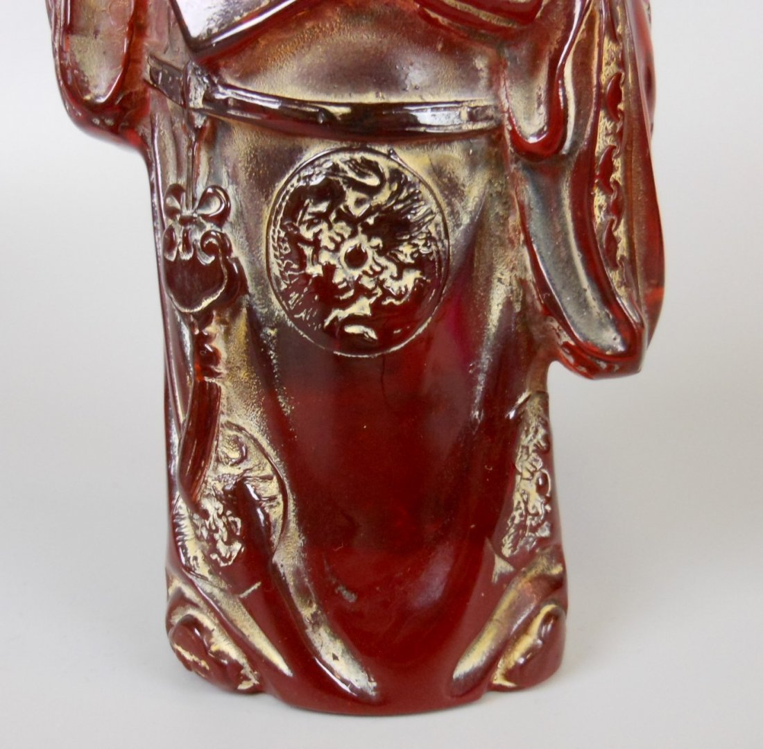 A Chinese carved amber figure - 6
