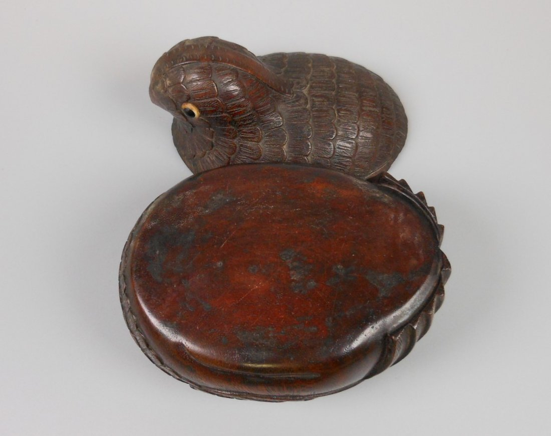 A Chinese carved chenxiang wood box - 8