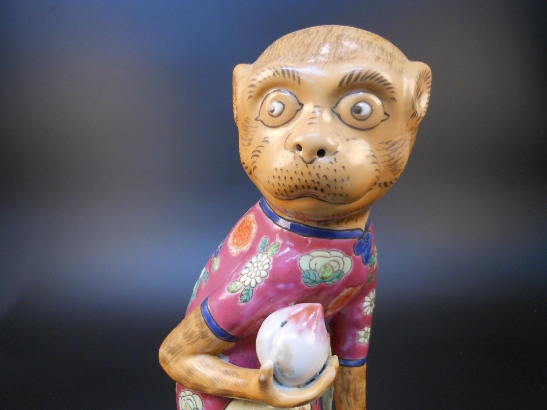 A Chinese famille rose porcelain monkey and peach - 5