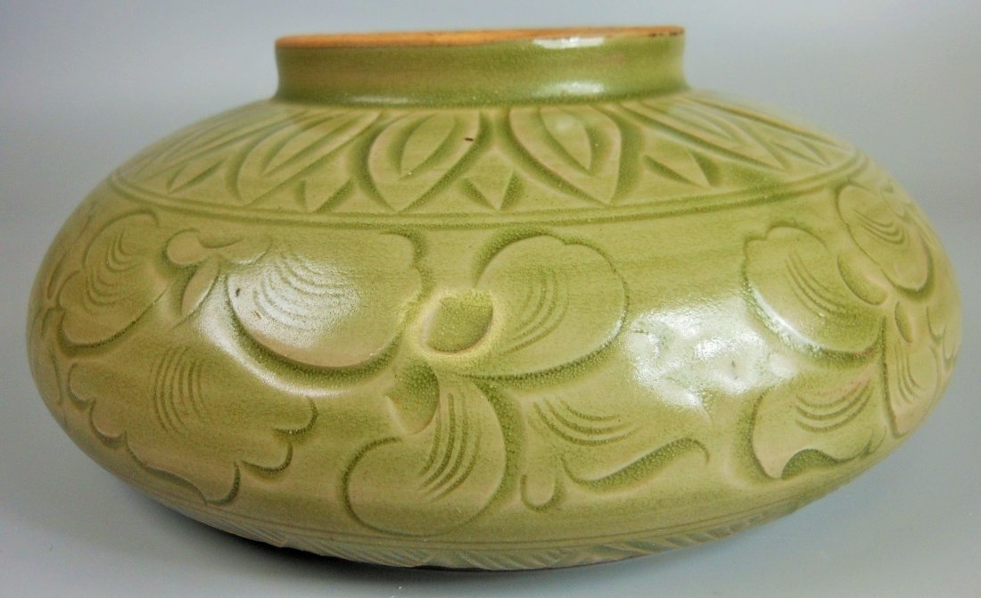 A Chinese yaozhou-yao celadon porcelain brush washer - 4