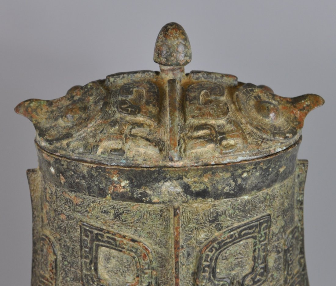 A Chinese antique zhou-dynasty Bronze jar - 5
