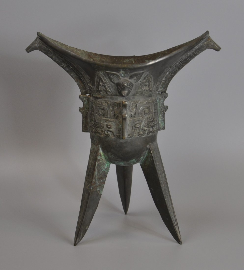 A Chinese antique zhou-dynasty Bronze jue - 3