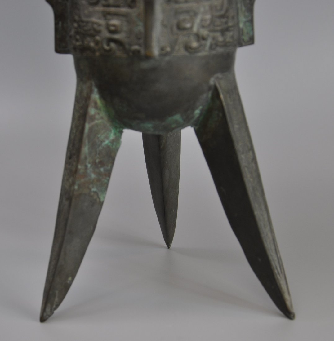 A Chinese antique zhou-dynasty Bronze jue - 6