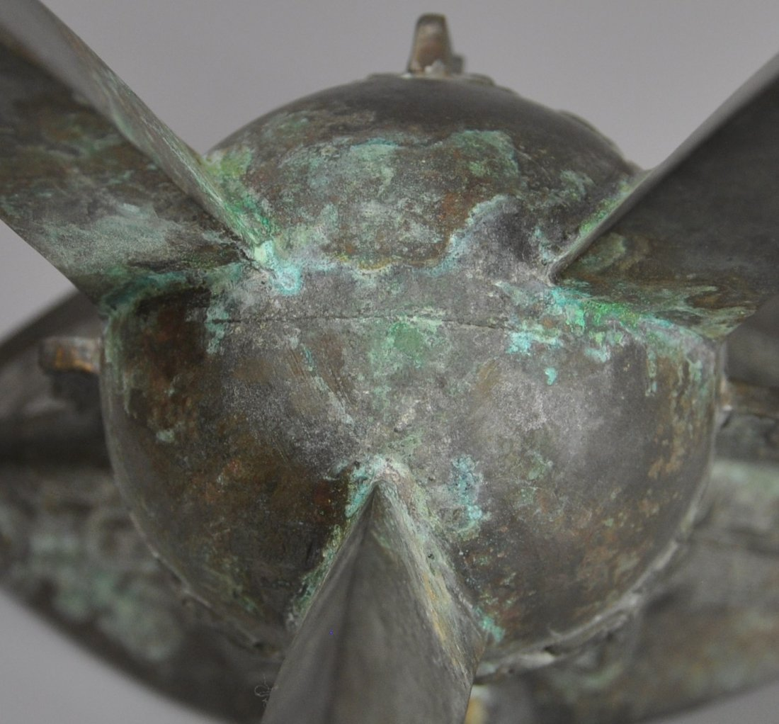 A Chinese antique zhou-dynasty Bronze jue - 8