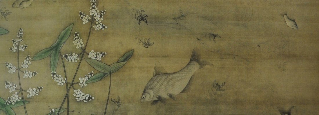 A Chinese color painting on silk scroll - 7